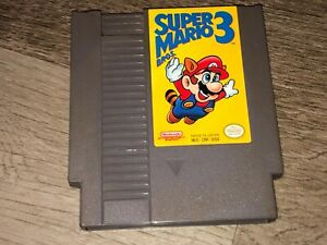 Super Mario Bros. 3 Left Bros. First Nintendo Nes Cleaned & Tested Authentic