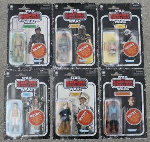 Star wars vintage collection rétro Wave 2 Set Luke Han Leia Lando Yoda Boba Fett