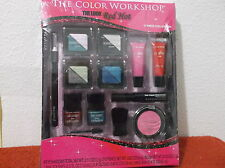 THE COLOR WORKSHOP...THE LOOK..RED HOT MAKE UP KIT...17 PIECE COLLECTION