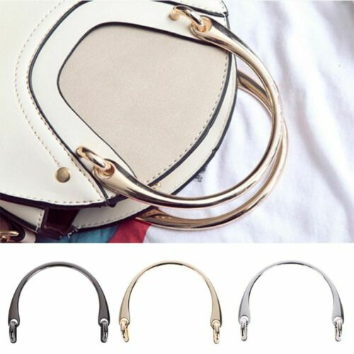 Metal Bag Handle Handbag Purse Strap Hardware Replacement Handmade Leather Craft