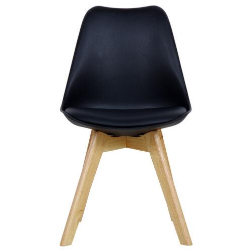 2er set chaises de salle à manger design salle à manger chaise chaise de cuisine bois noir bh29sz-2