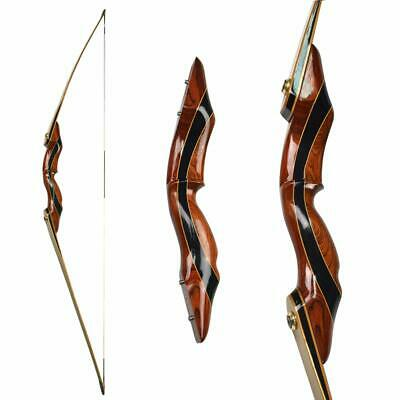 """62/"""" Longbow Recurve Bow Takedown 25-55lbs Traditional Bow Archery Hunting Sports"""
