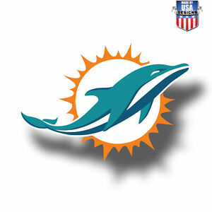 """Miami Dolphins NFL Vinyl Decal Sticker Reflective OFFICIAL NFL 3"""" Decal"""