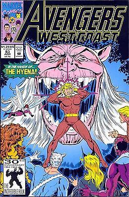 WEST COAST AVENGERS #83  THE HYENA MARVEL 1992 C2219