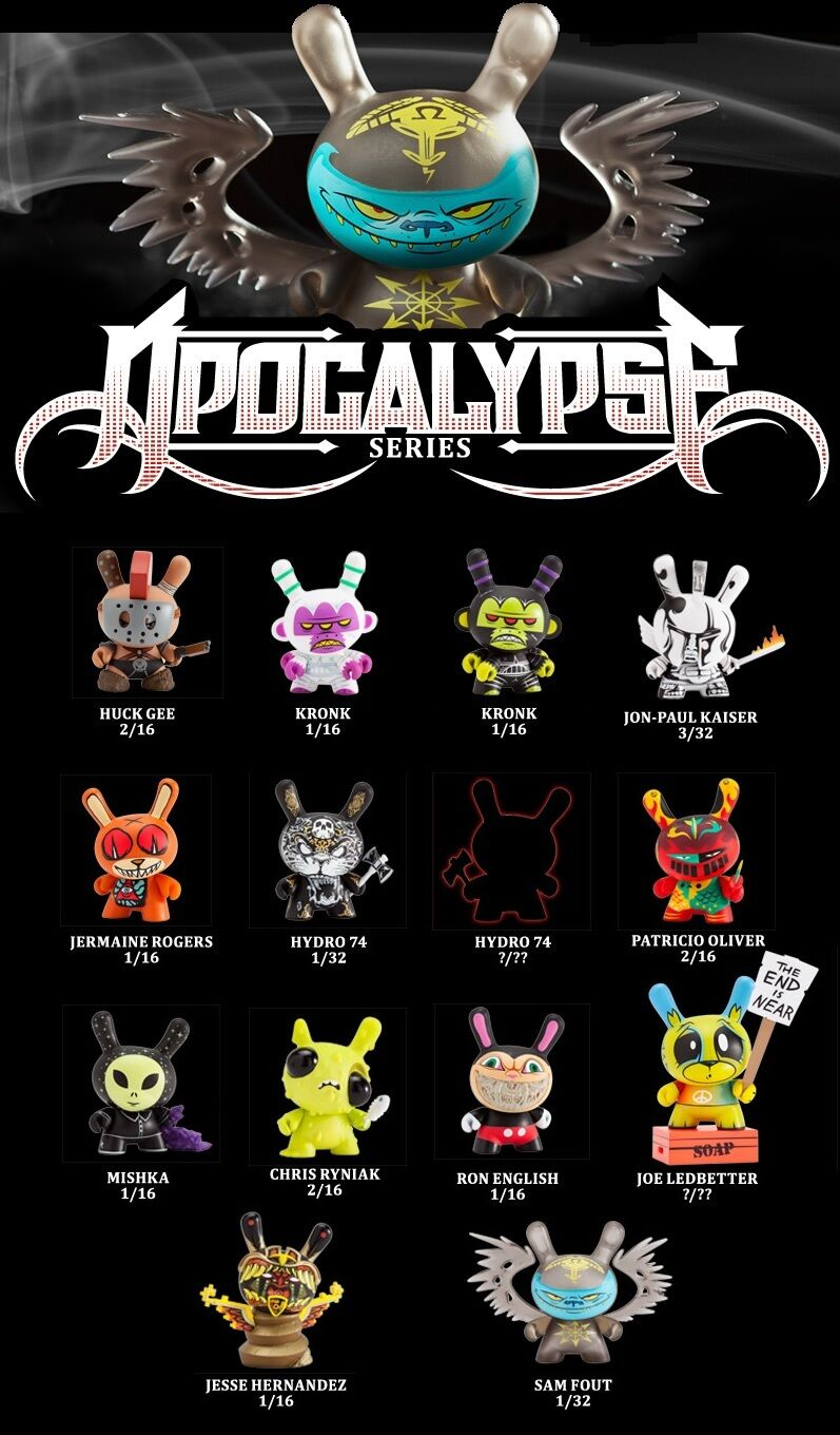 KIDROBOT DUNNY APOCALYPSE SERIES SEALED CASE OF 16 UNOPENED JLED RON ENGLISH +