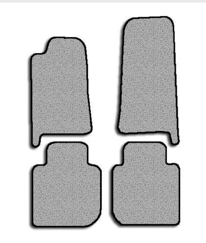 Jaguar Vanden Plas 4pc Custom Fit Carpet Floor Mat Set 95-03 Black Gray Beige