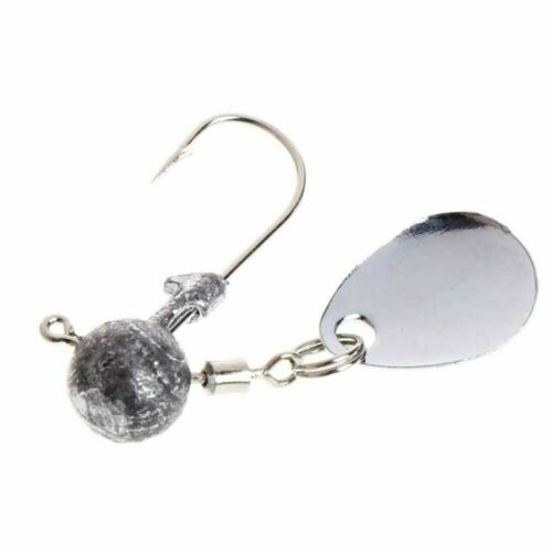 Fishing Barbed Collar 2g 4g Lead Head Jig Hook with Sequin Carp W3R9 T Bait T5O7