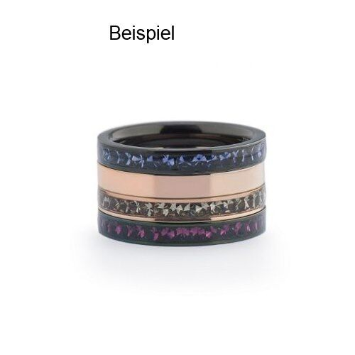 Melano vorsteckring beisteckring tamaño 60 m 01r4993 SS negro estrecho anillo Eva