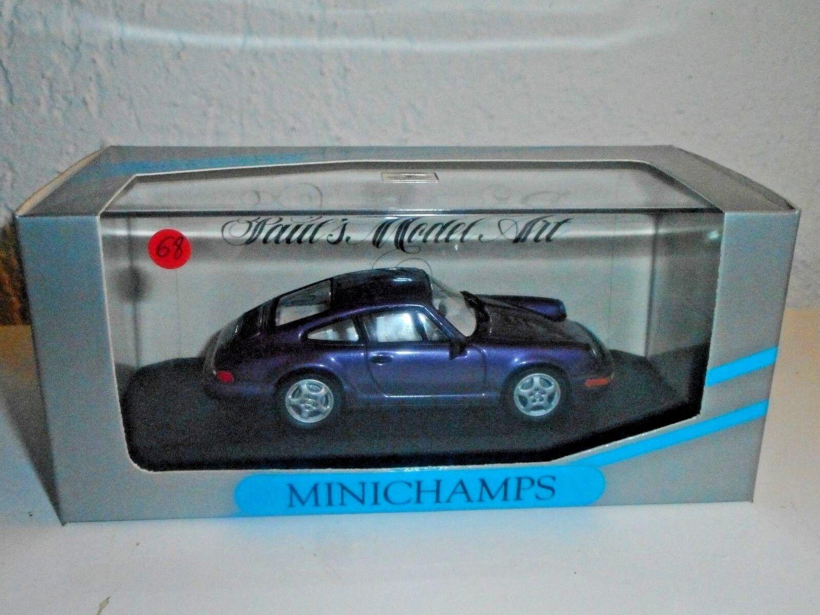MINICHAMPS 1 43 vintage PORCHE  911 carrera 2 4 1992  N°68 de 100 mis en vente