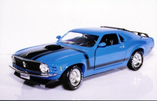 1:18 Ertl Ford Mustang /'70 Boss 302 w// Shaker Hood blue or orange MIB