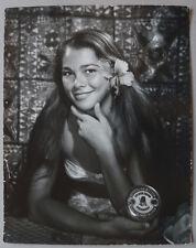 Ensemble 2 Photos Femme TahitienneTahiti Vahiné Argentiques Vintage 1950/60