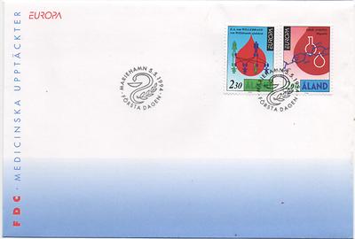 """Åland 1994 Mi.nr. 86-87 Ersttagsbrief Cept Europa """"entdeckungen Und Erfindungen"""" Wir Nehmen Kunden Als Unsere GöTter"""