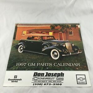 1997 Gm Parts Goodwrench Calendar Classic Cars Don Joseph Chevrolet Geo Kent Oh Ebay