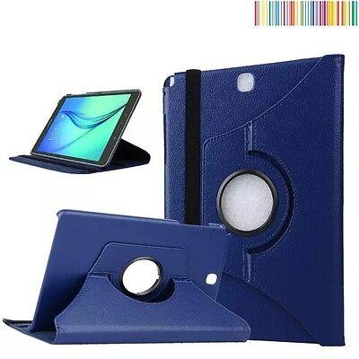 "Azul Oscuro Cases, Covers, Keyboard Folios Funda Giratoria 360º Tablet Samsung Galaxy Tab A 9.7"" Sm-t550 T555 Tablet & Ebook Reader Accs"