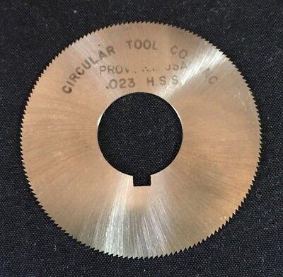 Circular Tool Co Jewelry 1-1//2 x 0.025 x 3//8 110T HSS Slitting Slotting Saw