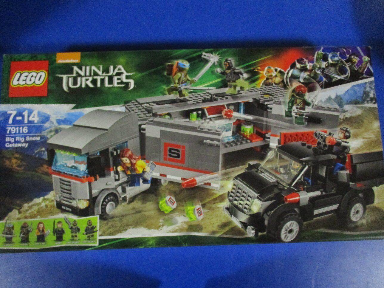 Lego Ninja Turtles 79116 huida con el remolcarse nuevo embalaje original
