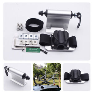 Details about Hot !Bike Car Truck Quick-release Fork lock Alloy Roof Mount  Rack Silver