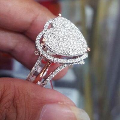 Luxury Crystal Women Rings Gold Tone Wedding Engagement Ladies Jewelry S