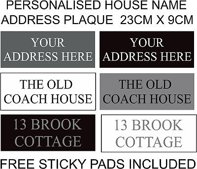 Miraculous Personalised House Plaque Address Door Name Plastic Sign Plate Home Gate Tnr Ebay Download Free Architecture Designs Remcamadebymaigaardcom