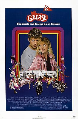Grease 2 1982 Vintage Movie Poster A0-A1-A2-A3-A4-A5-A6-MAXI 436