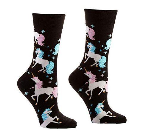 Yo Sox Unicorns Funky Women/'s Crew Socks for Dress or Casual Wear Size 5-10