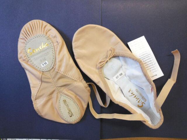 fits 3.5 Leather Split Sole Ballet Shoe Sansha Silhouette 3L Adult Size 3
