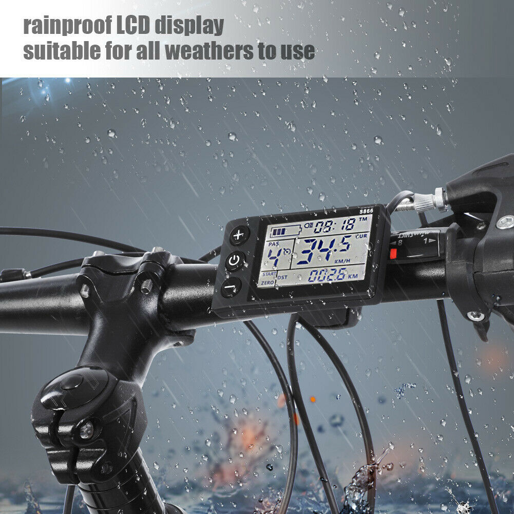 1 36//48V SW900 LCD Display Panel Meter Controller For Electric Bicycle E-bike