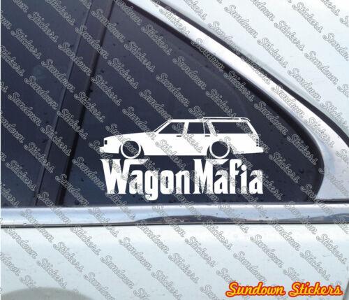 Lowered WAGON MAFIA sticker for Chevrolet Caprice wagon 3rd gen 1977-1990