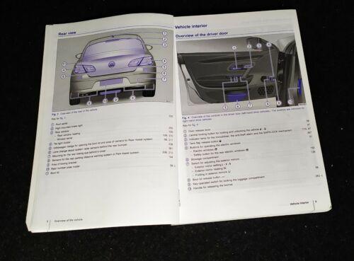 Genuine VW CC PASSAT CC 2012-2016 HANDBOOK PROPRIÉTAIRE MANUEL Stam 310 Portefeuille L-886