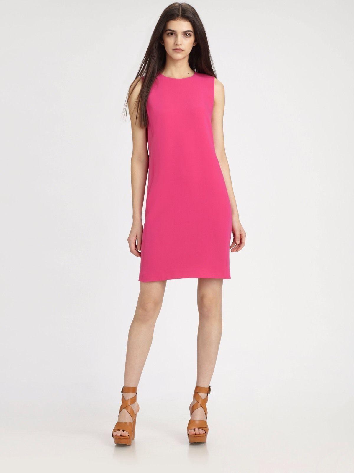 NWOT VINCE Silk Shift Dress Rosa 10 Runs very Small