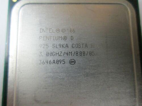 3.00 GHZ//4M//800//05A Computer Processor #118 SL9KA Intel Pentium D 925