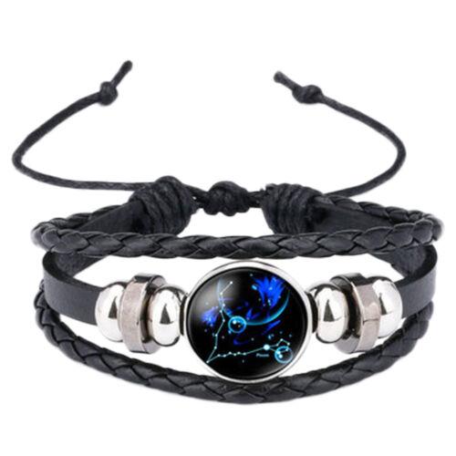 Femme Bracelet Constellation Tresse Multicouche Faux Cuir Chaîne Réglable Bijoux