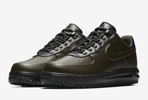 New Nike Aa1125-300 Men Lunar Force 1 Duckboot Low Sequoia sequoia-black