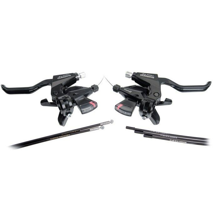 Comandi Cambio Freno Shimano ACERA 3x8Speed Sx+Dx C Cavo ST-M310 SHIFT LEVERS BR