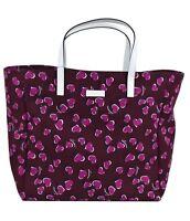 Gucci Heart Canvas Shopping Tote Bag In Wine Purple & White 282439