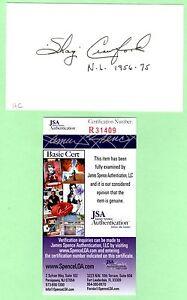Shag Crawford Signed Autograph 3x5 Index Card JSA R31409