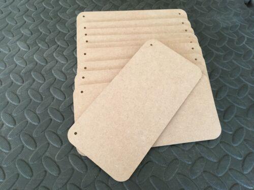 10 x Plaques 4 mm mdf 20 cm x 10 cm panneaux en bois Plain plaques Blanks Craft