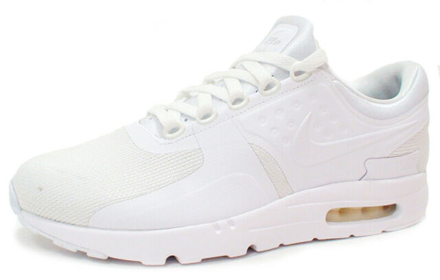 Nike Air Max Zero Essential Mens 876070 100 Triple White Running Shoes Size 13