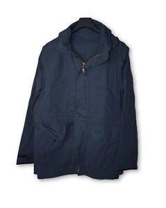 13d52e46303055 Image is loading Louis-Vuitton-Navy-Blue-Hooded-Field-Jacket-54