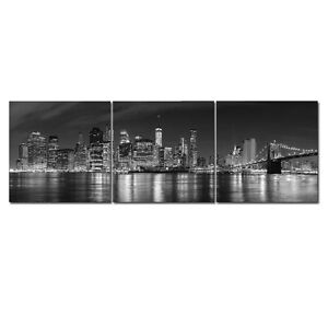 Canvas-Print-Photo-Paintings-Picture-Wall-Art-Home-Office-Dec-Gray-New-York-City