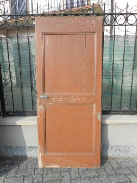 329) Porta Un Battente Abete 83 X 190 Epoca 800