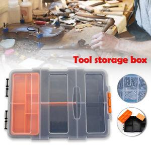 Plastic-Carry-outil-stockage-case-Cle-Vis-Pieces-Materiel-Organisateur-Boite-Kit-un