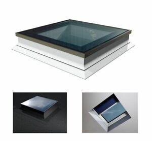 Flachdach-Fenster-OKPOL-PGX-A1-PVC-Lichtkuppel-120X120cm-Festelement-Uw-1-1W-m-K