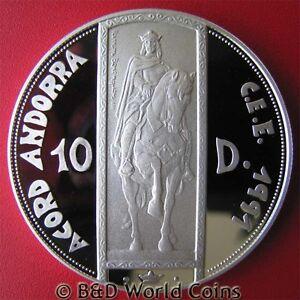 1995-ANDORRA-10-DINERS-94oz-SILVER-PROOF-RAMON-ON-HORSE-ECU-CUSTOMS-UNION-w-COA
