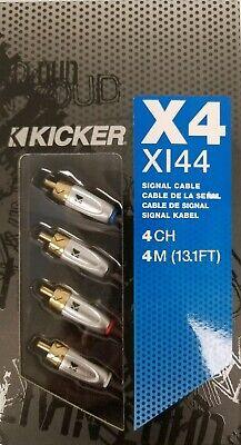 KICKER KI46 4-CHANNEL//4CH K-SERIES INTERCONNECT RCA SIGNAL AMPLIFIER CABLE 19FT