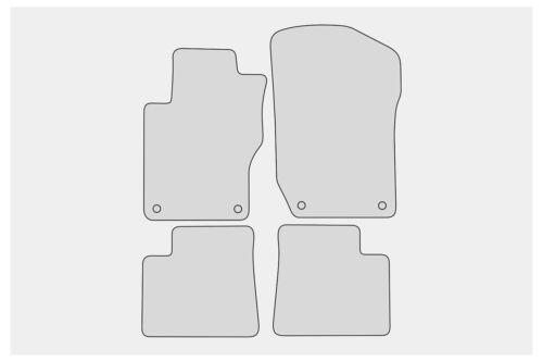 Premium Doppelziernaht Fußmatten für Mercedes-Benz M-Klasse W164 Bj 2005-2011