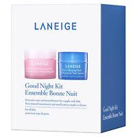 Laneige Good Night Kit Travel Size Kit (water Sleeping & Multiberry Yogurt Maks)