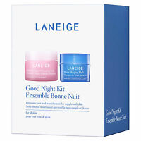 Laneige Good Night Kit Travel Size Kit (water Sleeping & Multiberry Yogurt Maks)