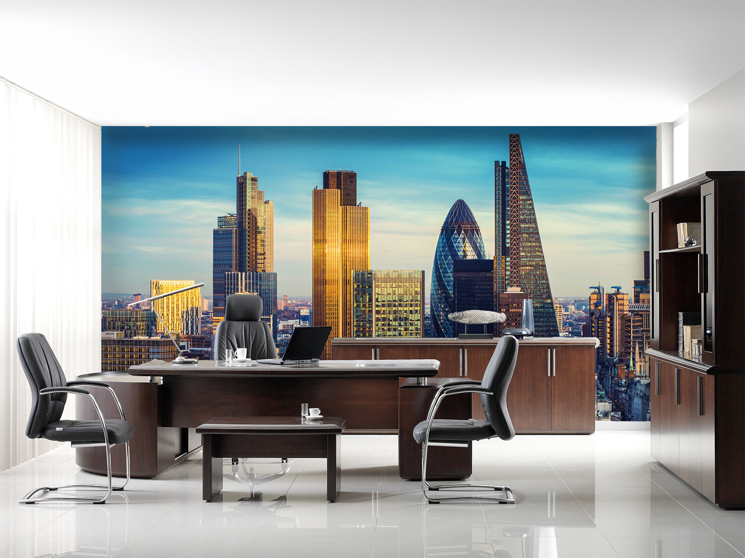 3D city building picture Wall Paper Print Decal Wall Deco Indoor wall Mural
