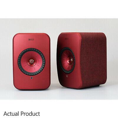 KEF LSX Active Loudspeakers Powered - RED / MAROON Compact